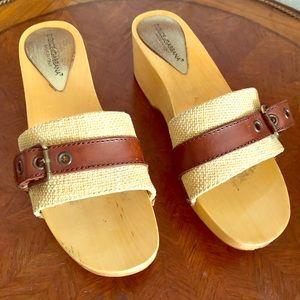 Dolce and Gabbana open toe wood platform